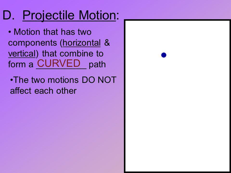 D. Projectile Motion: CURVED
