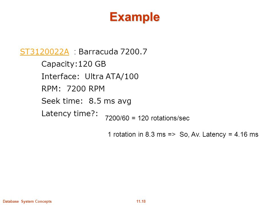 Example ST A : Barracuda Capacity:120 GB