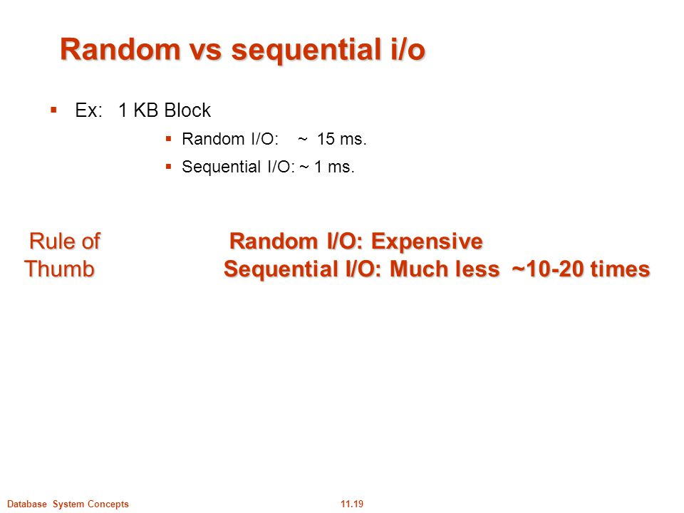 Random vs sequential i/o