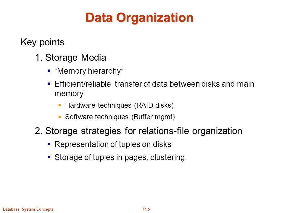 Data Organization Key points 1. Storage Media