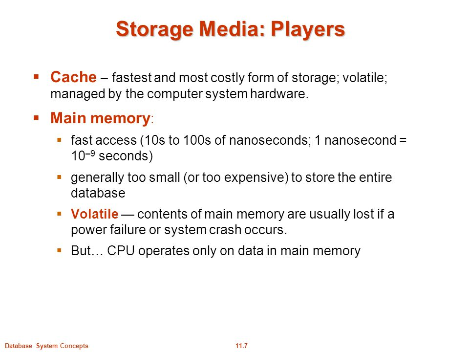 Storage Media: Players