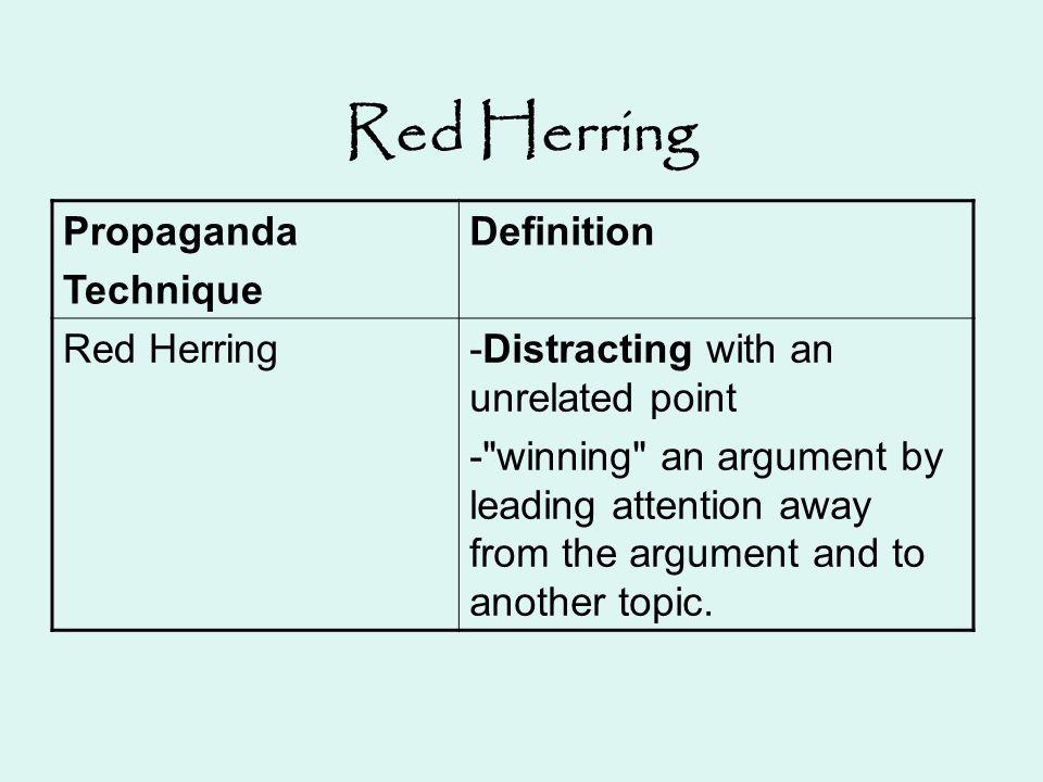 Red Herring Propaganda Technique Definition Red Herring