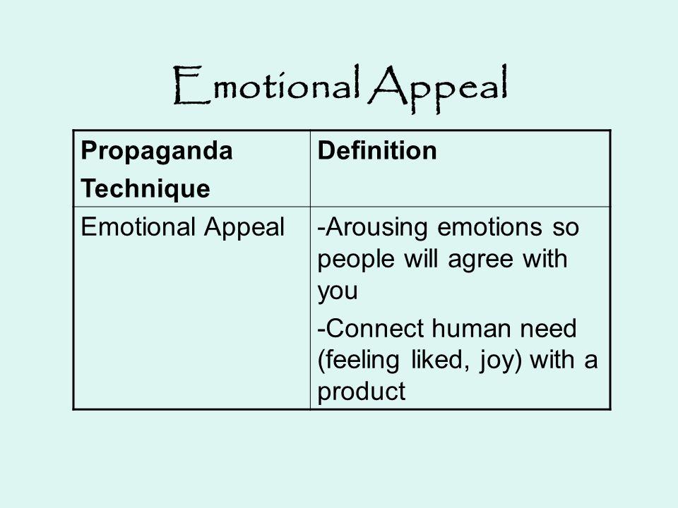 Emotional Appeal Propaganda Technique Definition Emotional Appeal