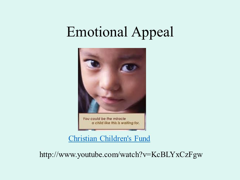 Emotional Appeal Christian Children s Fund