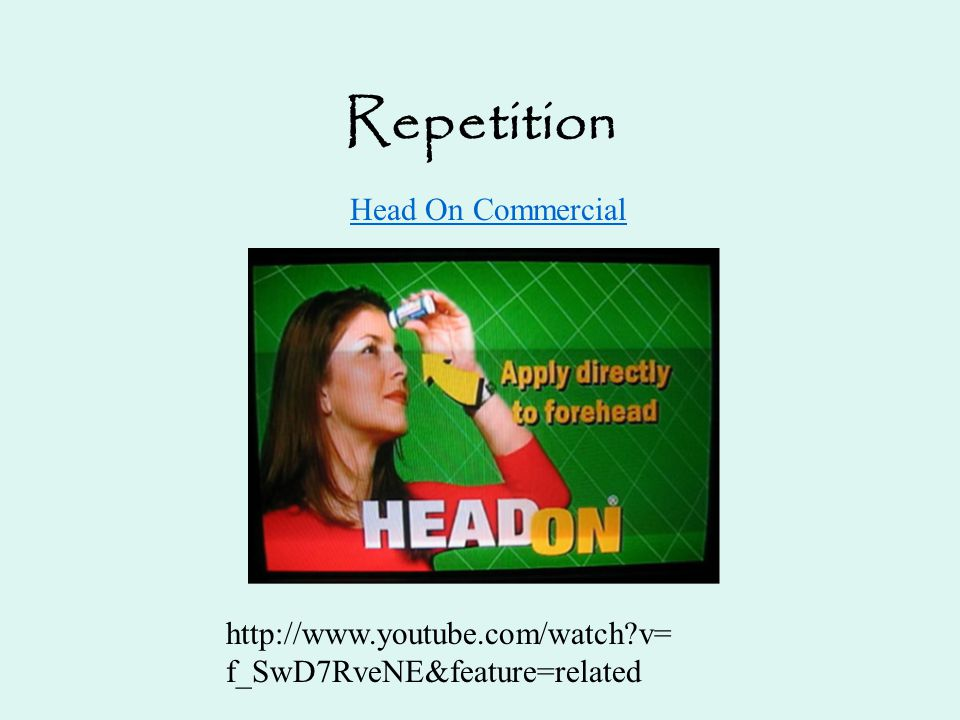 Repetition Head On Commercial