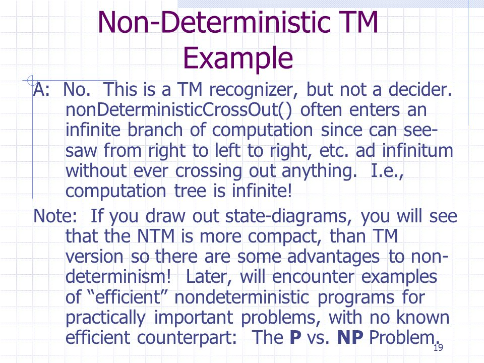 Non-Deterministic TM Example