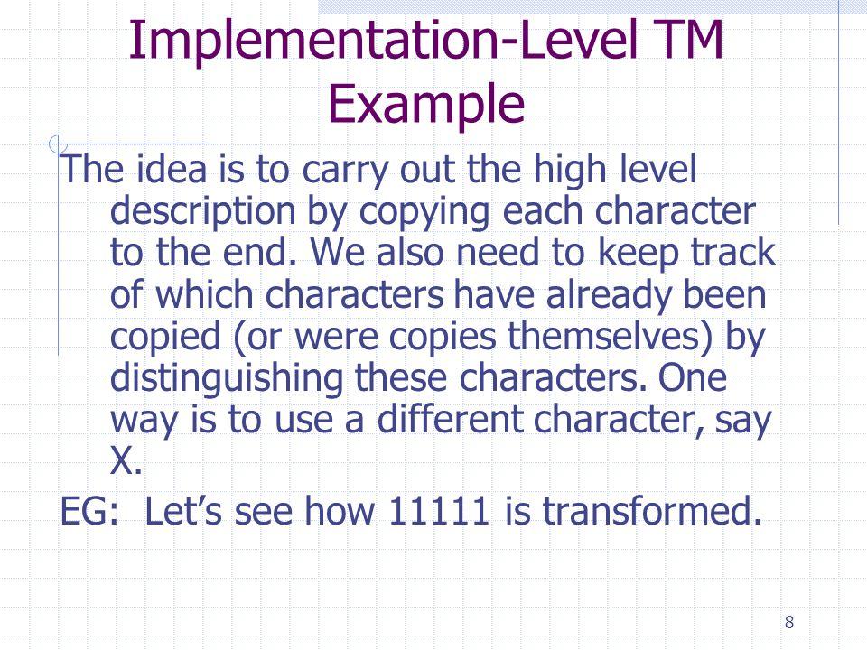 Implementation-Level TM Example