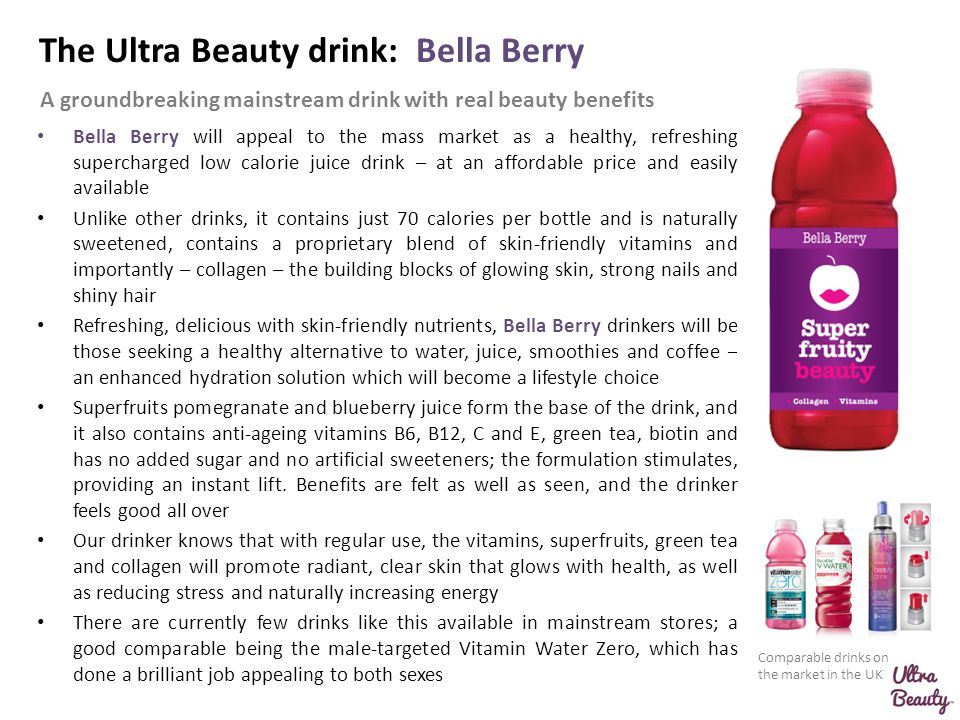 The Ultra Beauty drink: Bella Berry