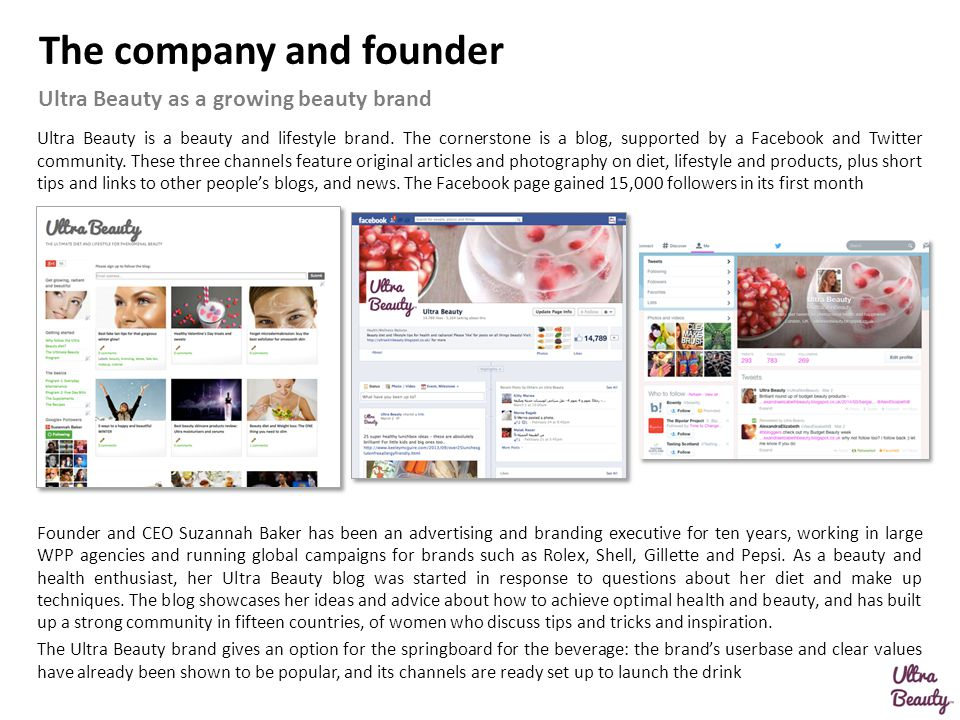 The company and founder