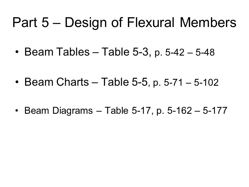 Part 5 – Design of Flexural Members