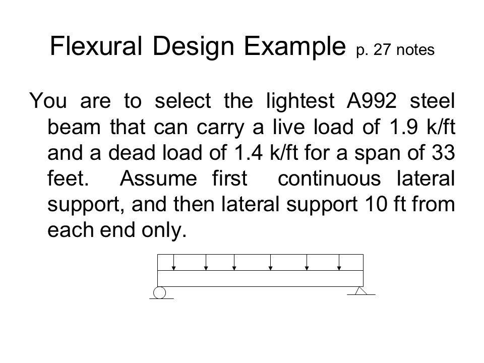 Flexural Design Example p. 27 notes