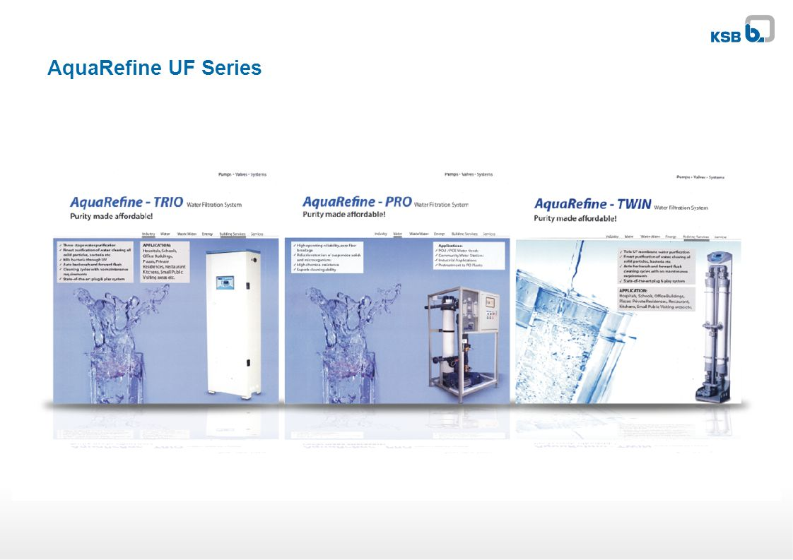 AquaRefine UF Series
