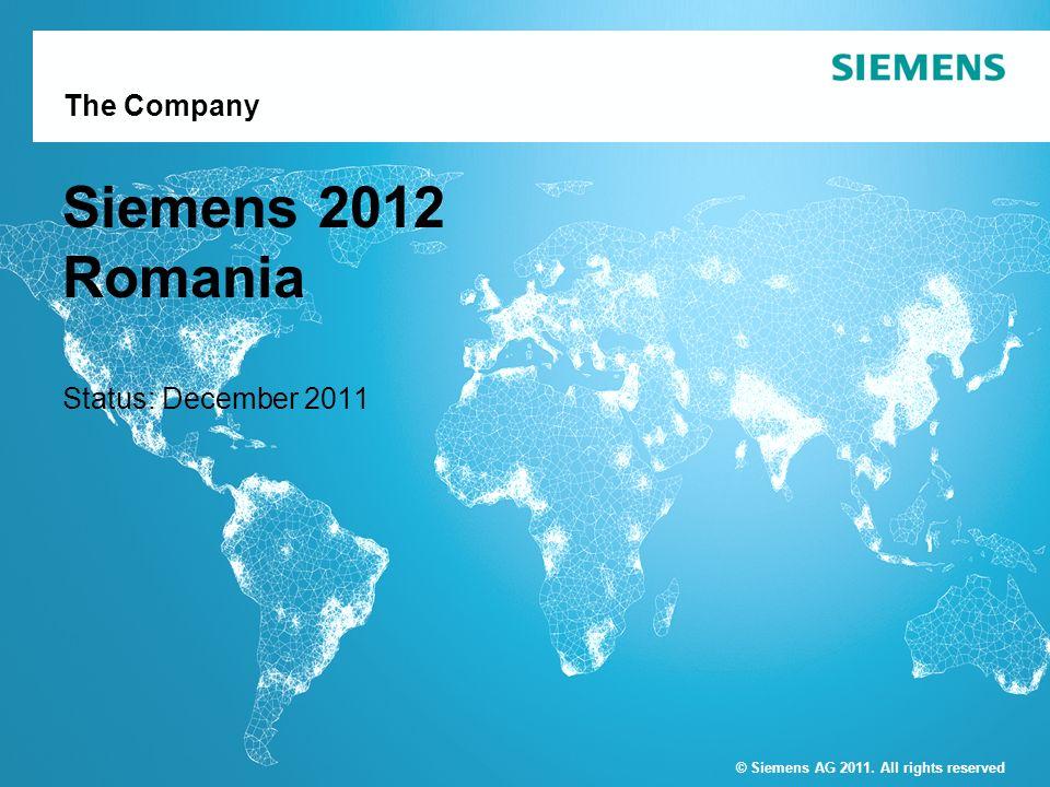 Siemens 2012 Romania Status: December 2011
