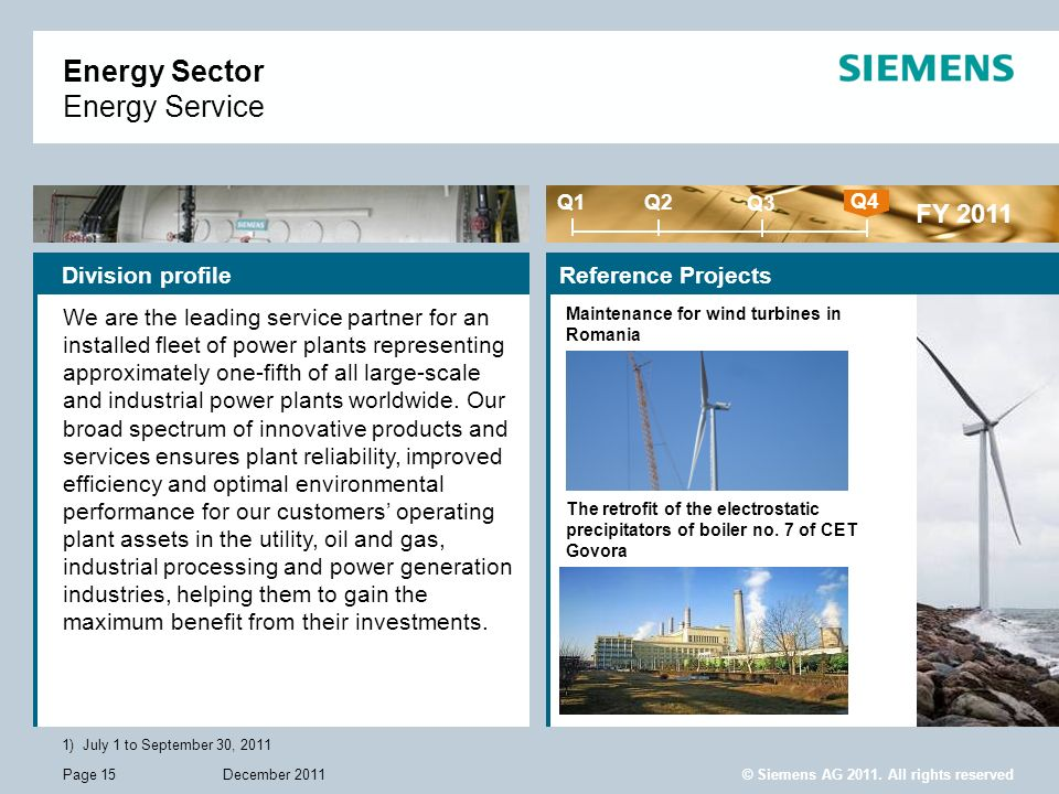 Energy Sector Energy Service