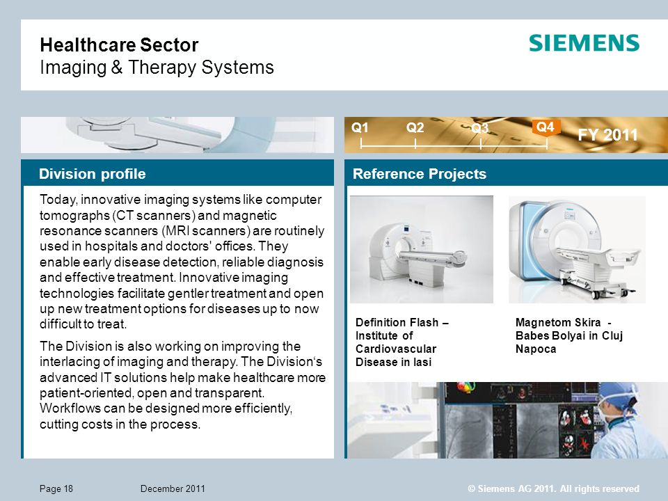 Healthcare Sector Imaging & Therapy Systems