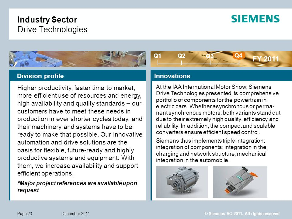 Industry Sector Drive Technologies