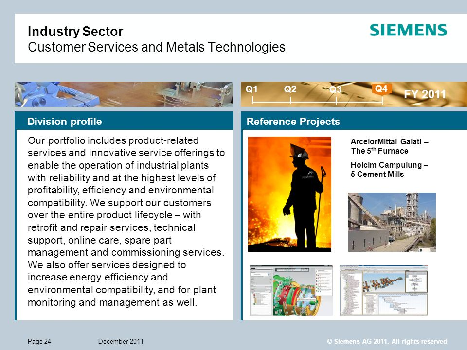 Industry Sector Customer Services and Metals Technologies