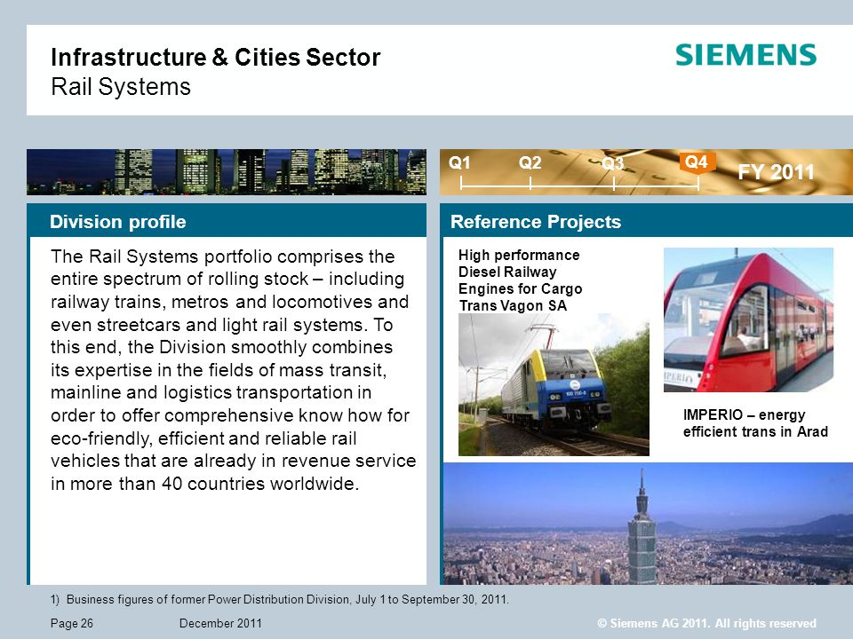 Infrastructure & Cities Sector Rail Systems