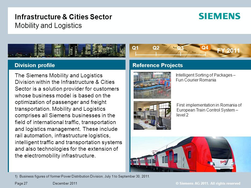 Infrastructure & Cities Sector Mobility and Logistics