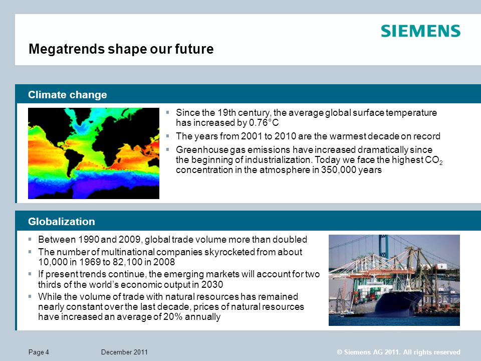 Megatrends shape our future