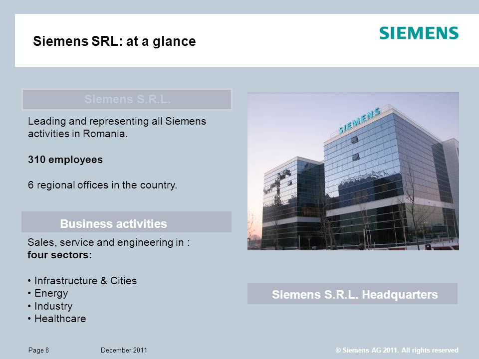 Siemens S.R.L. Headquarters