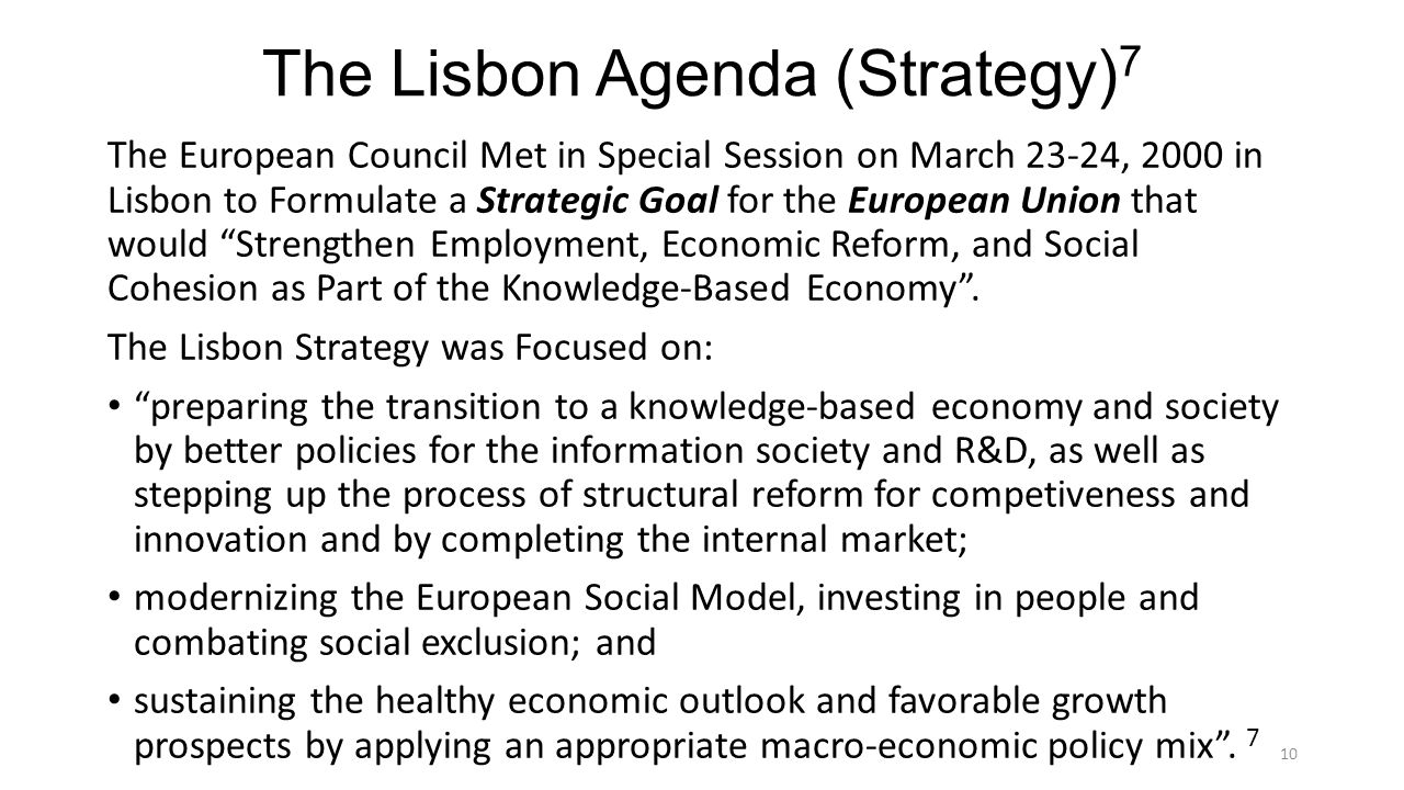 The Lisbon Agenda (Strategy)7