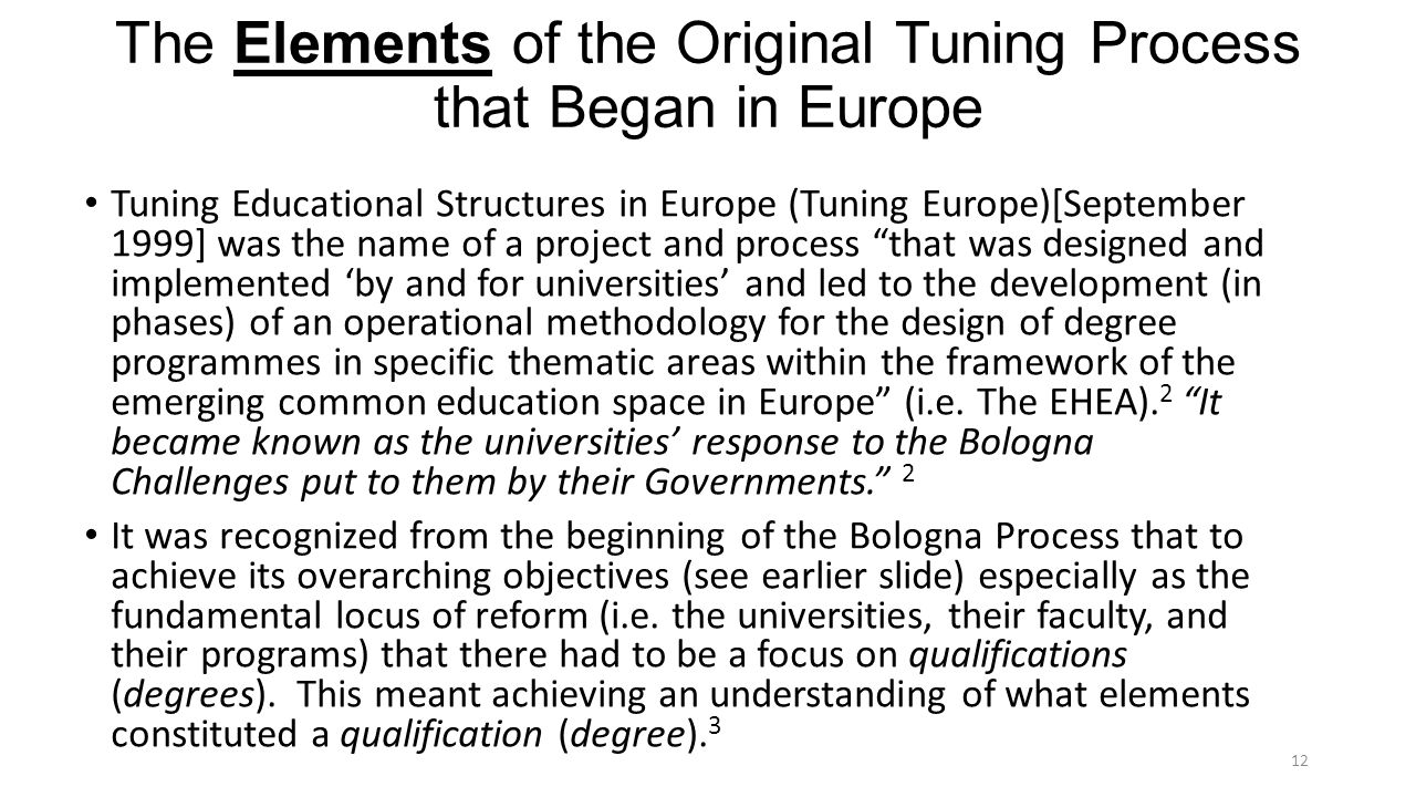 The Elements of the Original Tuning Process that Began in Europe