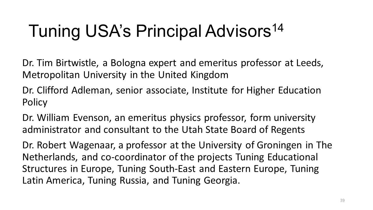 Tuning USA's Principal Advisors14