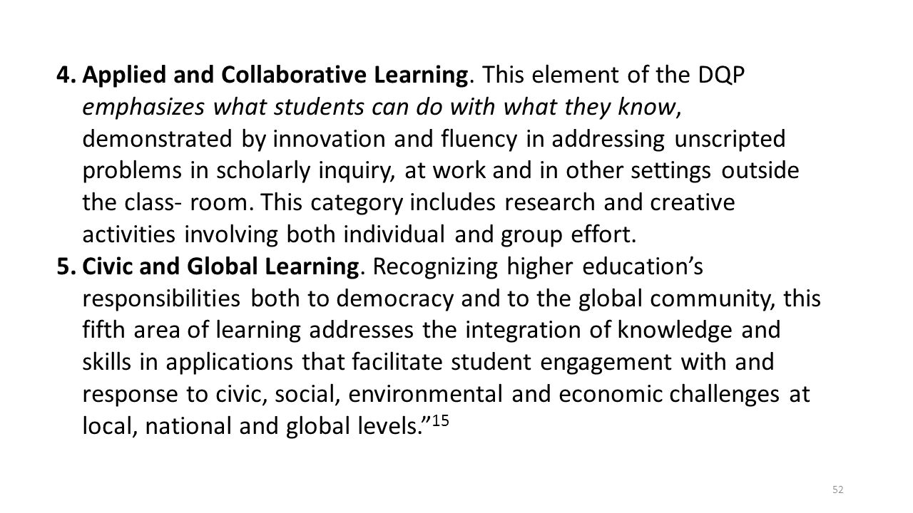 Applied and Collaborative Learning