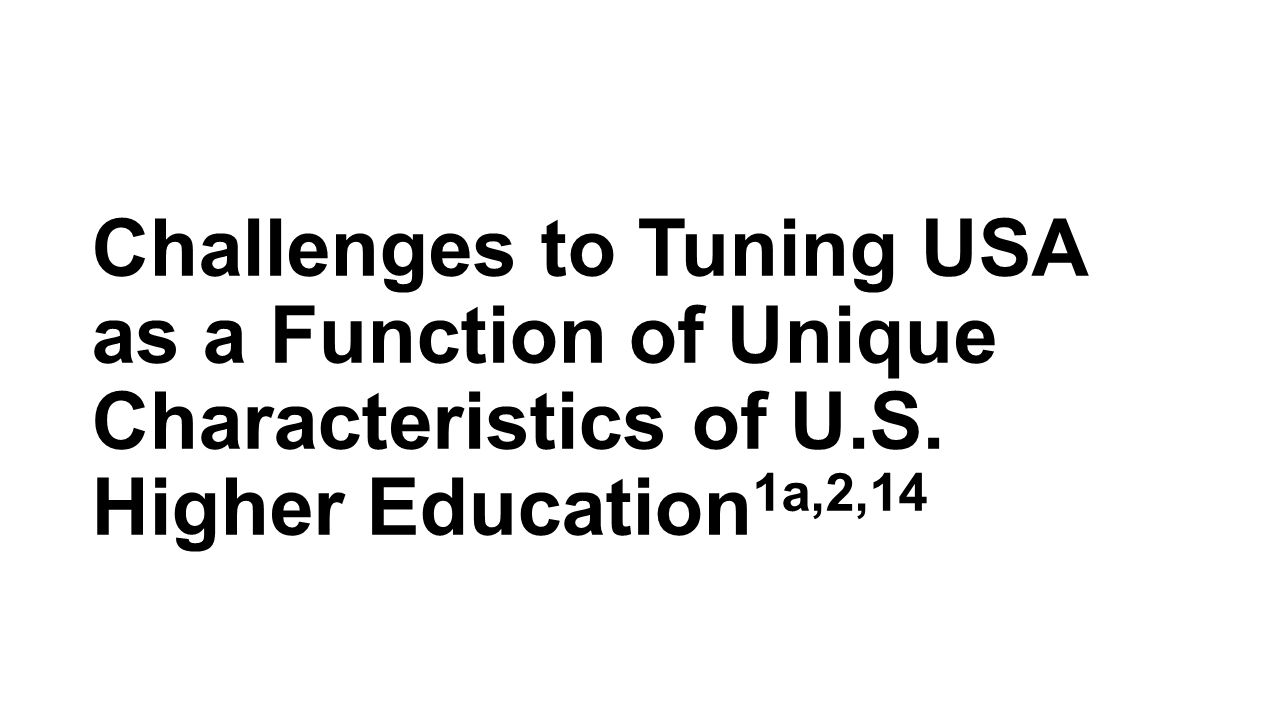 Challenges to Tuning USA as a Function of Unique Characteristics of U