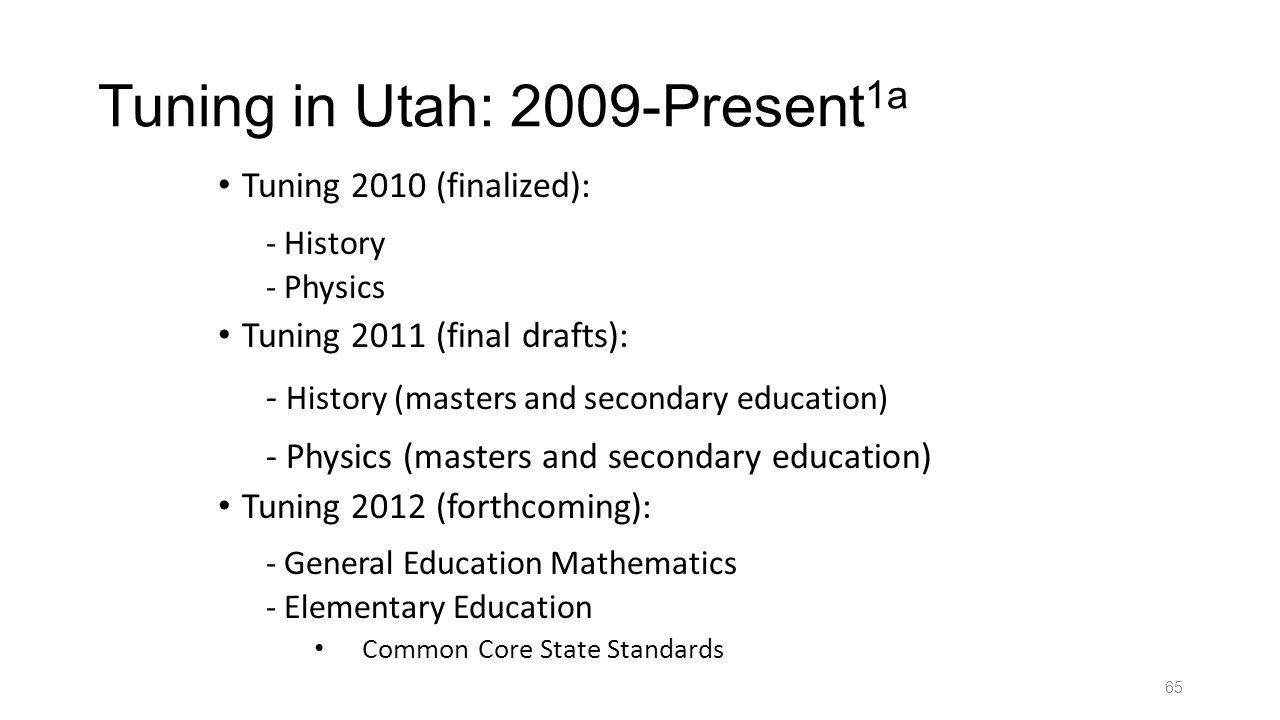 Tuning in Utah: 2009-Present1a