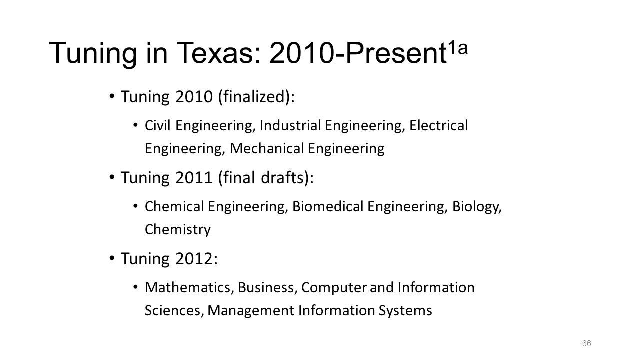 Tuning in Texas: 2010-Present1a