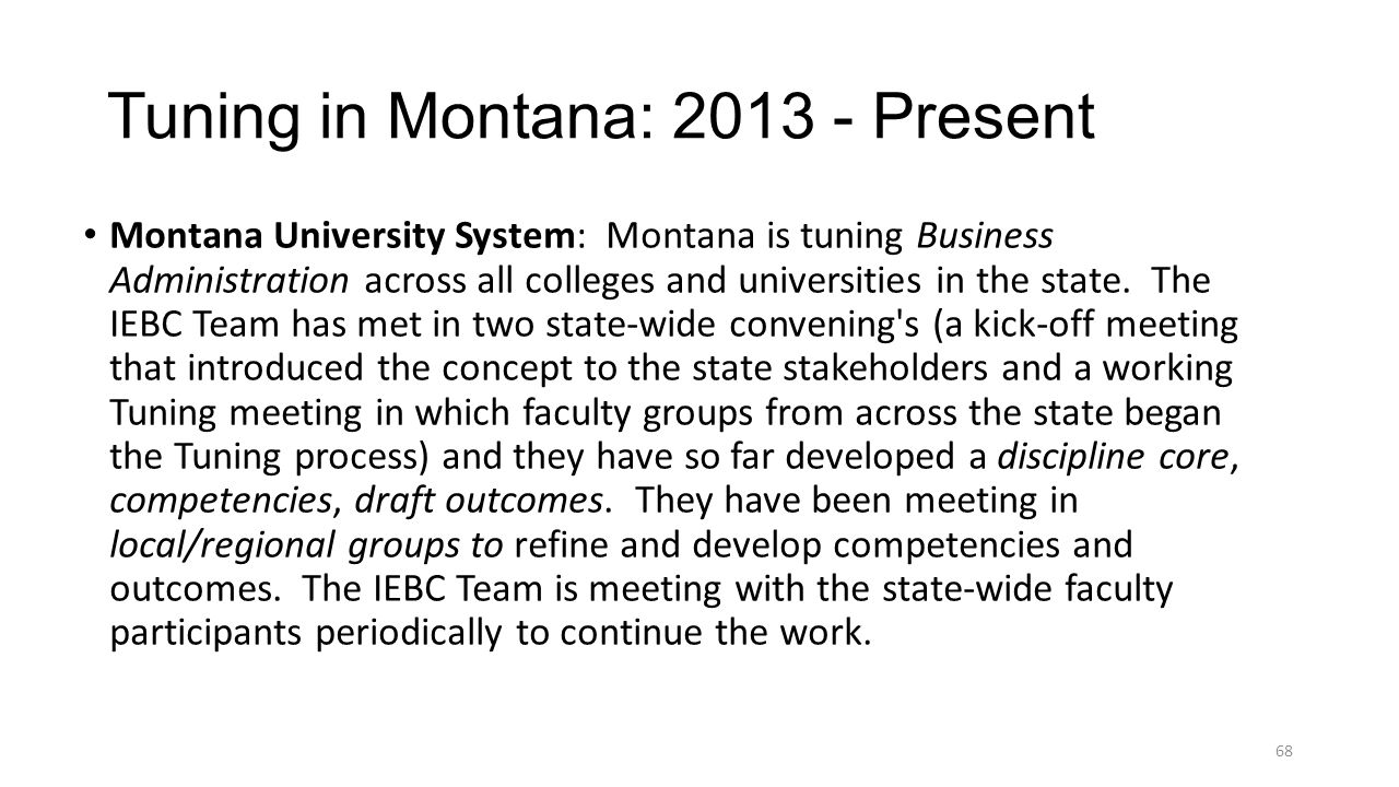 Tuning in Montana: 2013 - Present