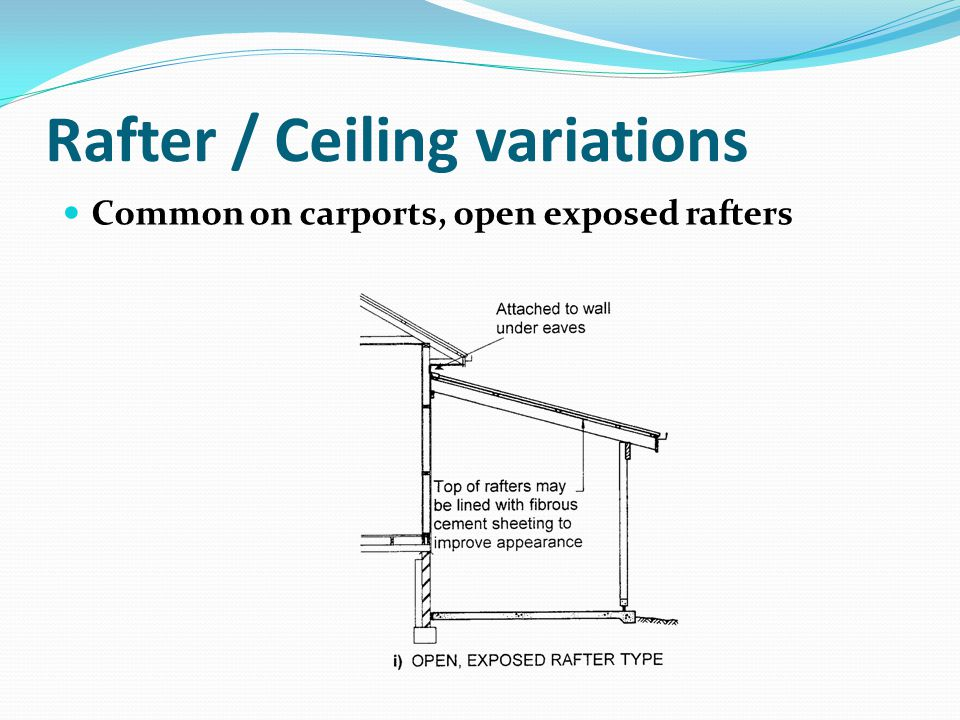 Rafter / Ceiling variations