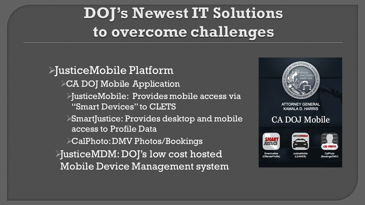 DOJ's Newest IT Solutions to overcome challenges