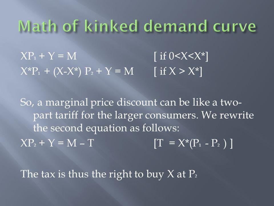 Math of kinked demand curve