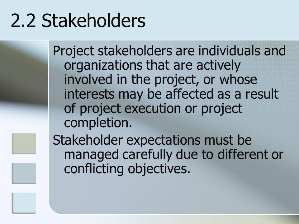 2.2 Stakeholders