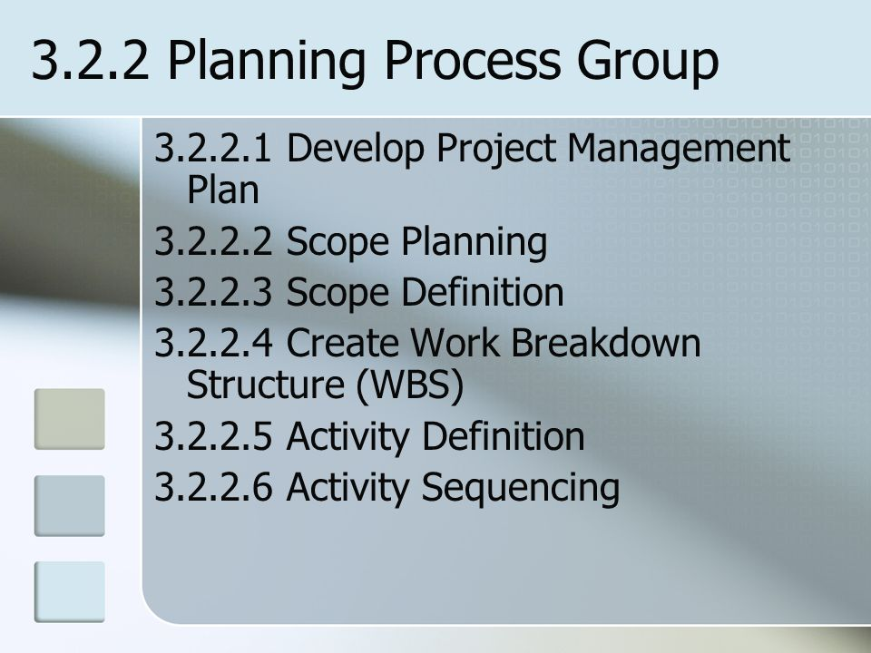 3.2.2 Planning Process Group