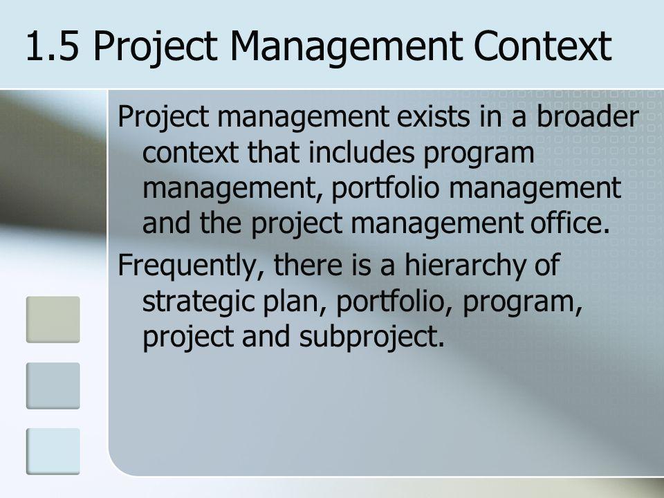 1.5 Project Management Context