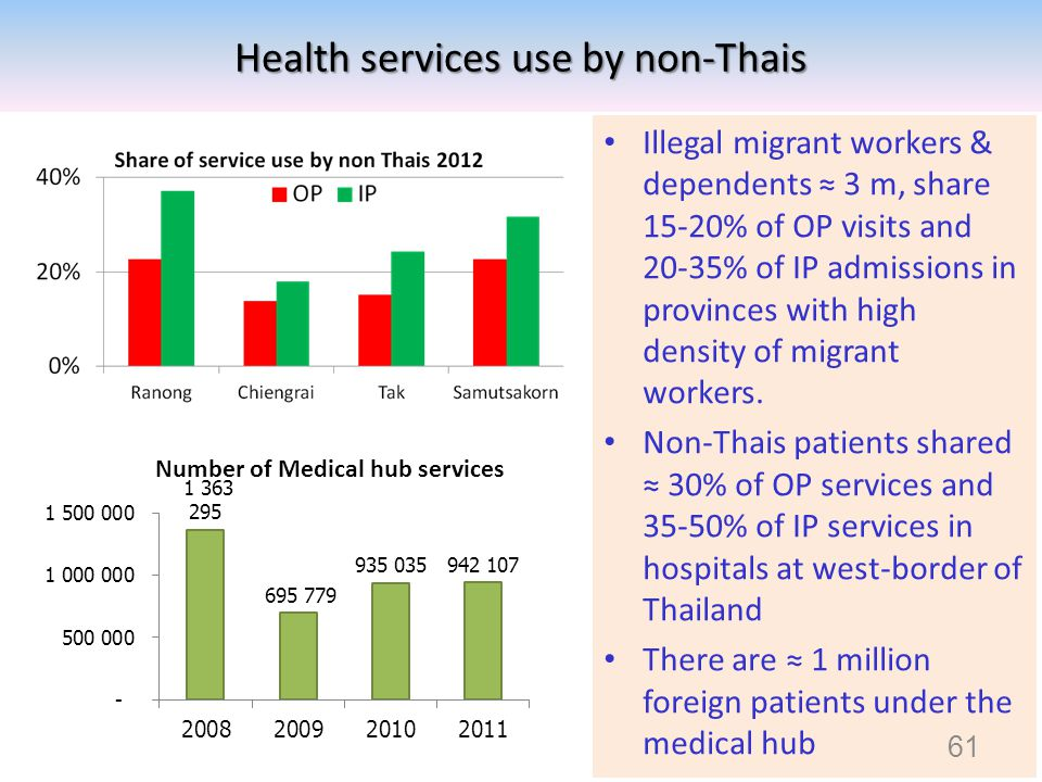 Health services use by non-Thais