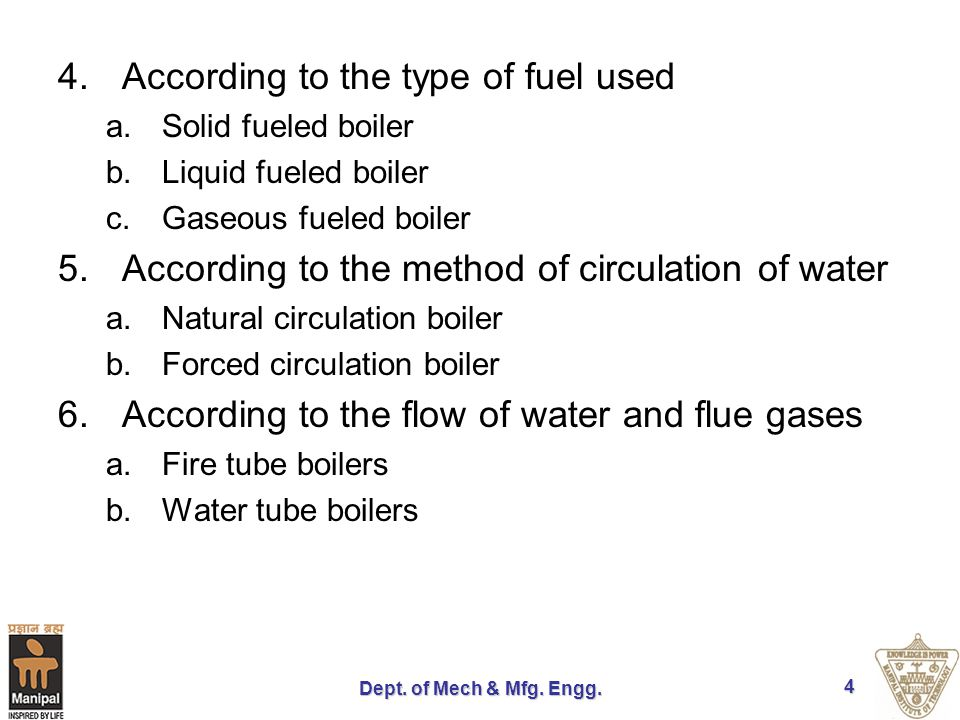 According to the type of fuel used