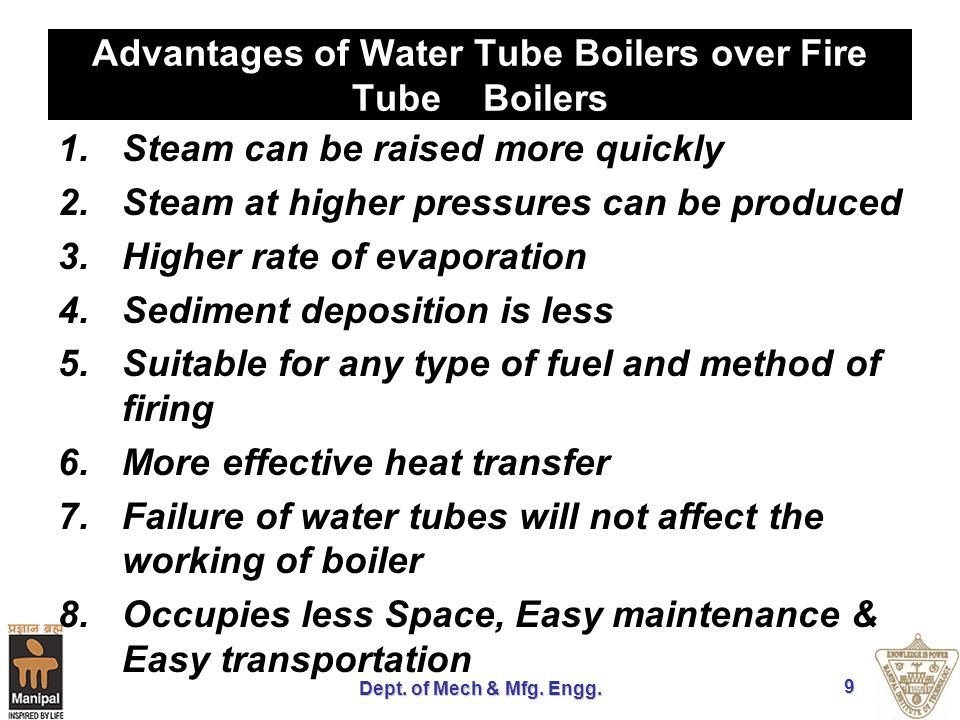 Advantages of Water Tube Boilers over Fire Tube Boilers