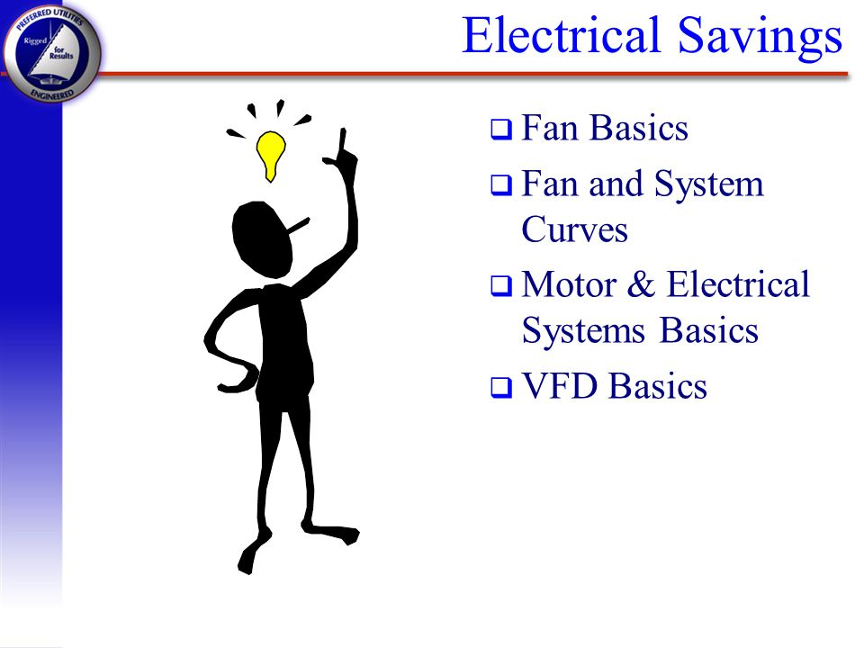 Electrical Savings Fan Basics Fan and System Curves