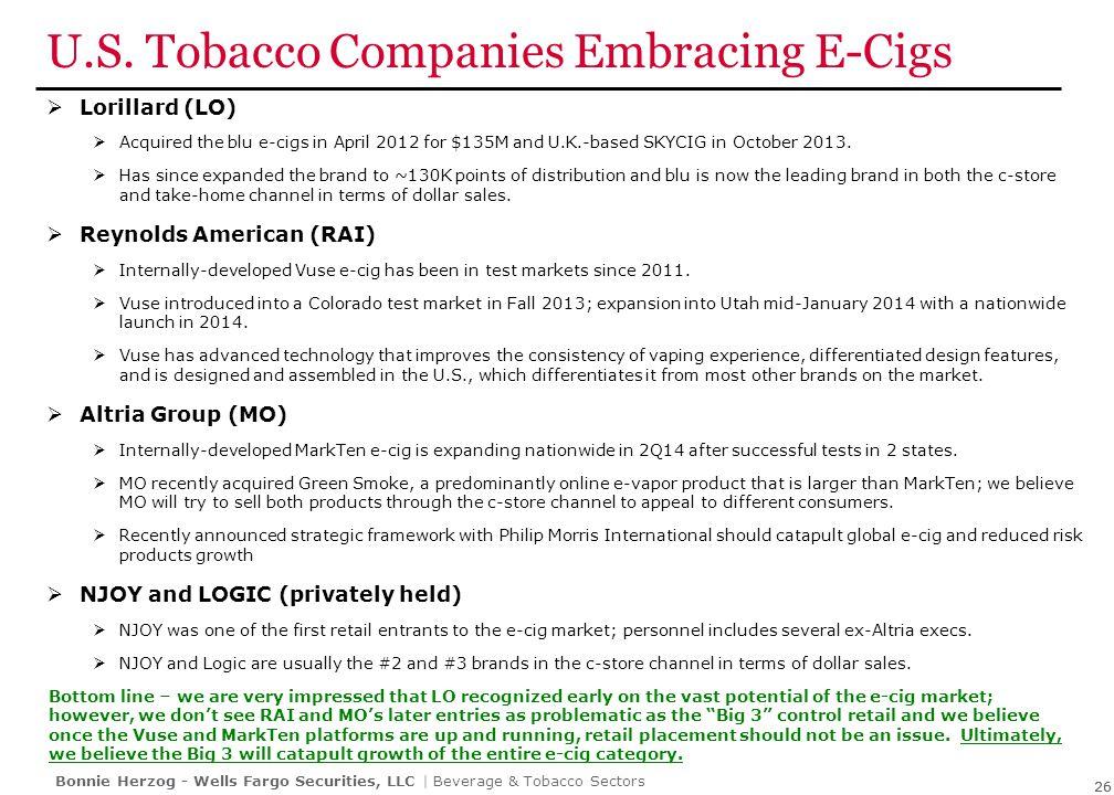 E-Cigs Future Regulation & Taxation Still Unclear