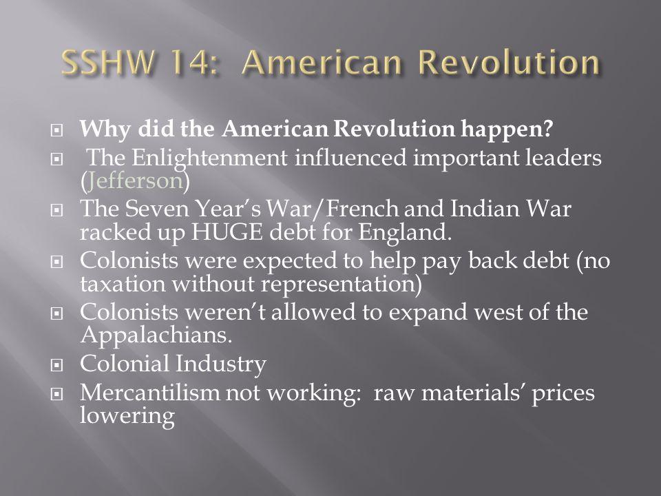 SSHW 14: American Revolution