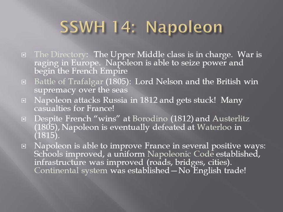 SSWH 14: Napoleon