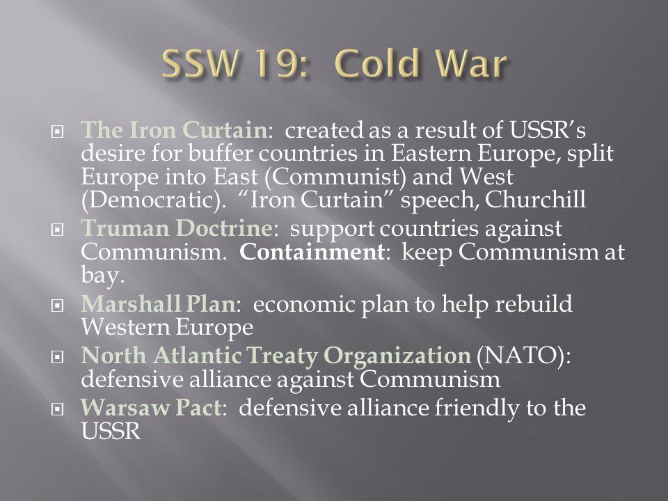 SSW 19: Cold War