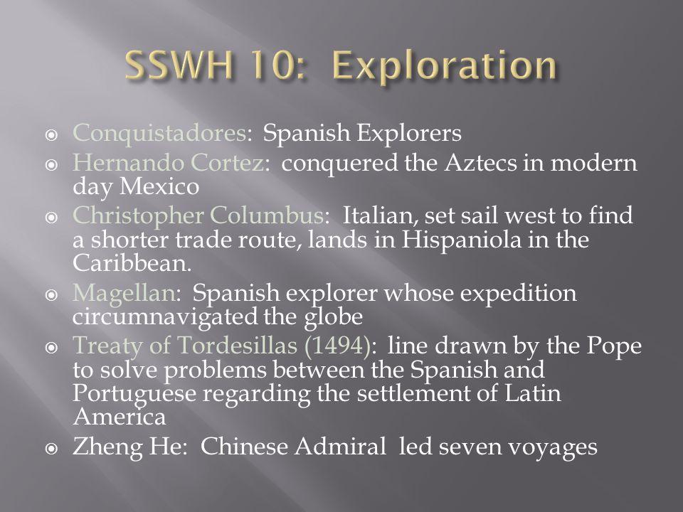 SSWH 10: Exploration Conquistadores: Spanish Explorers