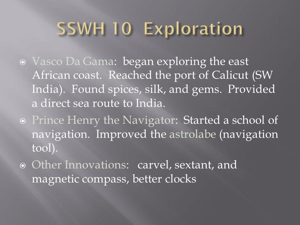 SSWH 10 Exploration