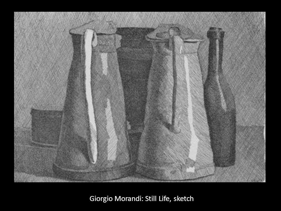 Giorgio Morandi: Still Life, sketch